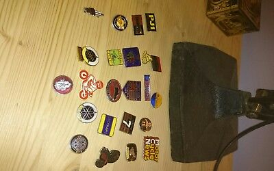 vintage- motorcycle affiliated pin badges