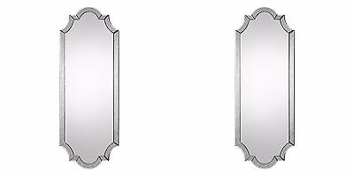 """Two New Large 64"""" Wall Mirror Hand Beveled Antiqued Mirror Frame Vintage Modern"""