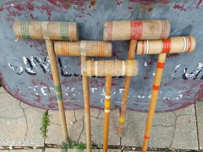 Vintage Replacement  Croquet Mallet Choice Of One South Bend Orange Green Yellow