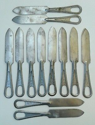 Lot of 12 U.S. Military Mess Kit Knives Stamped US