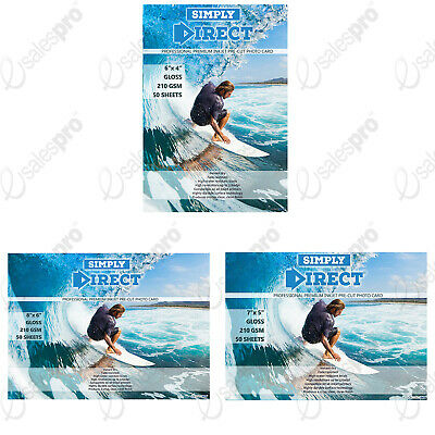 "Pre Cut Photo Card Inkjet Printing Paper GLOSS FSC Paper 6""x4"" - 7""x5"" - 8""x6"""