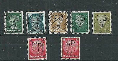 Germany Early Perfins Lot Used