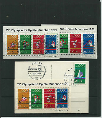 Germany 1972 Olympics Mnh-Fine Used-Fdc