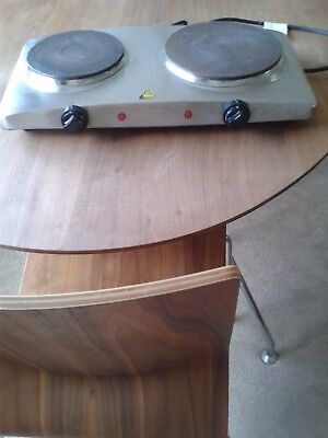 Stainless Steel Double Electric Hob Hot Plate Table Top