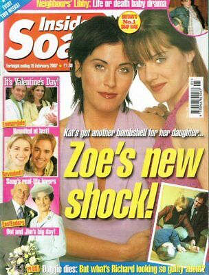 Inside Soap 15/02/02 Christie Hayes Lysette Anthony Kenneth Cope Jessie Wallace