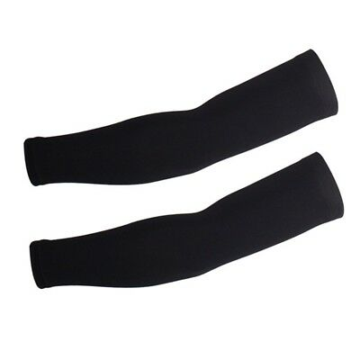 (Medium, Black) - Xinzechen Unisex Cycling Arm Warmers with UV Protection