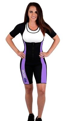 (XX-Large, PURPLE FLEX) - Body SPA Light Body Sauna Suit Neoprene Full Body