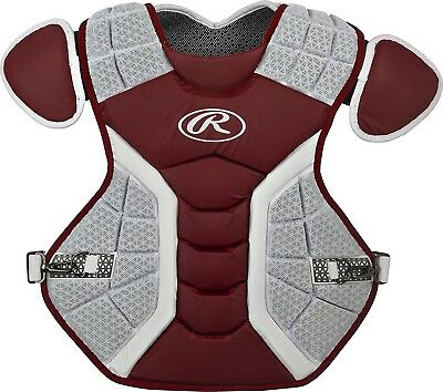 (39cm , Matte Cardinal) - Rawlings Pro Preferred Series Chest Protector