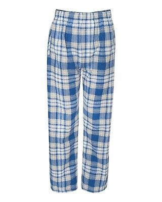 (X-Large, Royal/ Silver) - Boxercraft mens Classic Flannel Pants (F24)