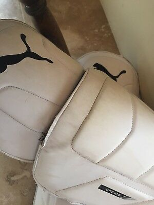 Puma evo speed 2fxt, cricket wicket keeping pads good condition. Small men's