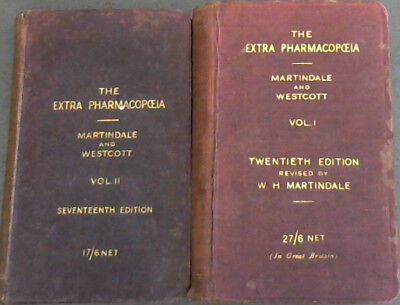 The Extra Pharmacopoeia of Martindale and Westcott - Two volumes