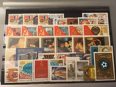 Russia Sowjetunion Briefmarken ** MNH Lot Post 7