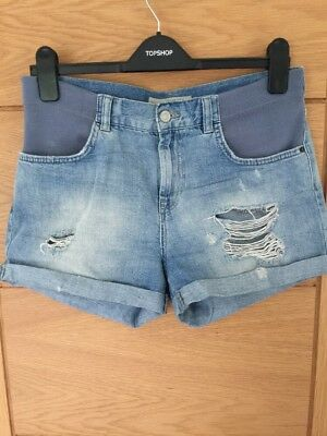 Topshop Maternity Denim Shorts Size 8