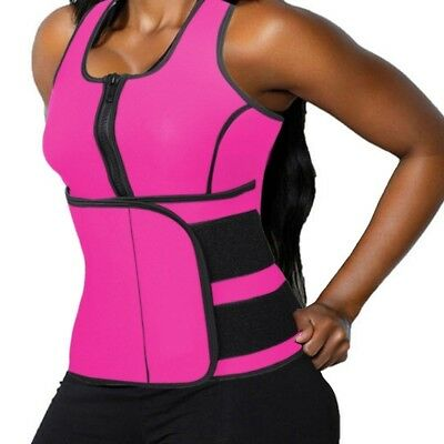 (2XL/(Fit Waist 80cm  - 90cm  ), Pink) - DODOING Zipper Waist Trimmer Trainer