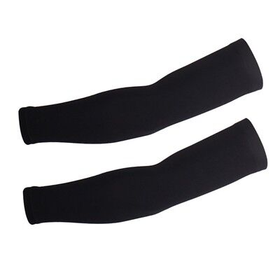 (Large, Black) - Xinzechen Unisex Cycling Arm Warmers with UV Protection