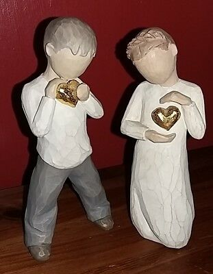 Willow Tree Keepsake Boy and Girl Collection Figurine Figures Ornaments