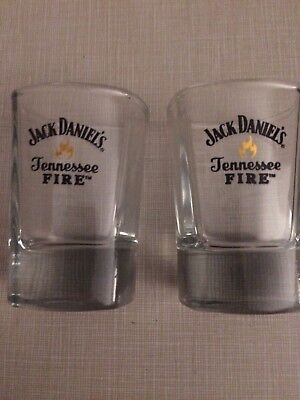 Set Of 2 Brand New Jack Daniels Tennessee Fire Shot Glasses