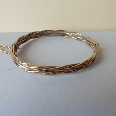 Victorian Gold Filled Bangle Pleated