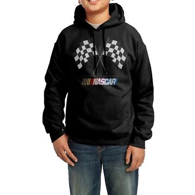 (XL) - YHTY Youth Boys/Girls Hoodie Nascar Black. Delivery is Free