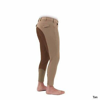 (28, White) - Shires Mens Richmond Full Seat Breech. Free Delivery