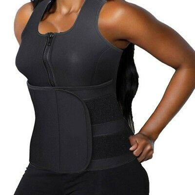 (XL/(Fit Waist 80cm  - 80cm  ), Black) - DODOING Zipper Waist Trimmer Trainer