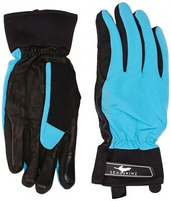 Sealskinz Women's All Season Glove - Sky Blue/Black, X-Large. Shipping Included