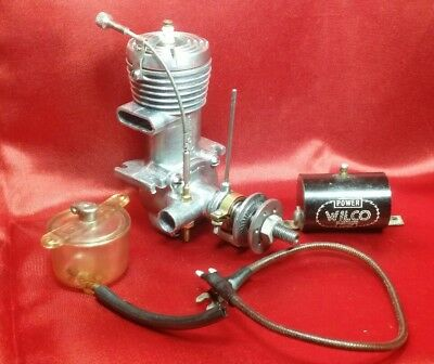 Vintage 1946 Cannon 300 Model Spark Ignition CL / FF Engine w/ Acc Tank & Coil