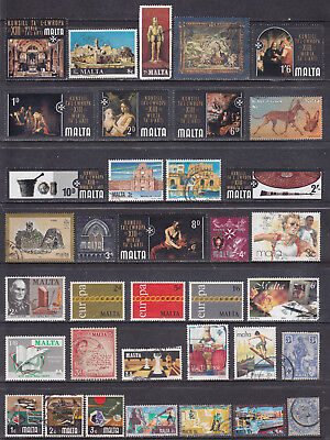 Collection Of Malta Maltese Mint & Used Commemorative Stamps
