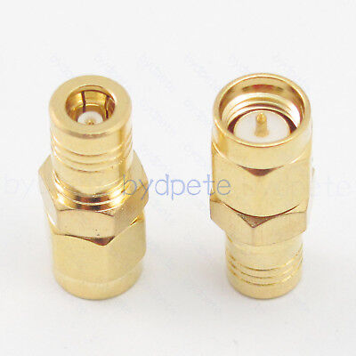 SMB female jack to SMA male plug RF Straight Connector Coaxial Adapter 50 ohm