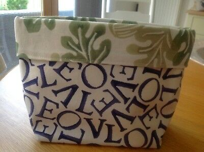 Emma Bridgewater Sanderson Fabric Hold-all. New. Professionally Made!Reversible!