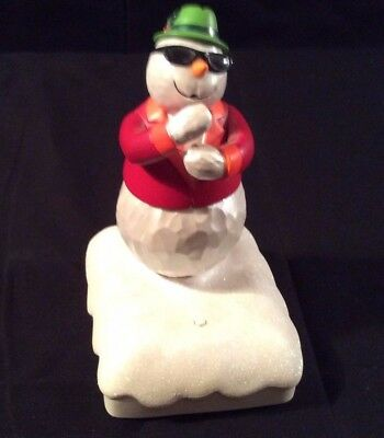 Hallmark Musical Snowman Plays the Saxophone  2010