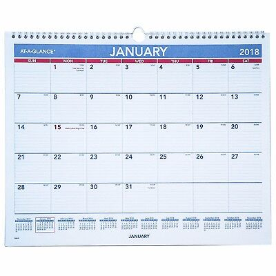 """2018 At-A-Glance PM8-28 Monthly Wall Calendar With Hanger, 14-7/8 x 11-7/8"""""""