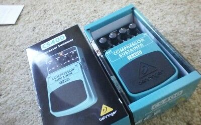 Behringer CS400 Compressor Sustainer Guitar / Keyboard Effects Pedal / Stomp Box