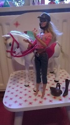 Barbie Tawny Walking Horse and Barbie Doll - Rare