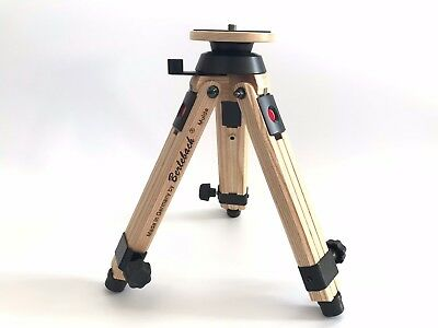 Berlebach Ash Wood Mini Tripod with Levelling 50032, Excellent Condition