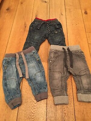 3x Next Baby Boys Jeans size 6-9 months