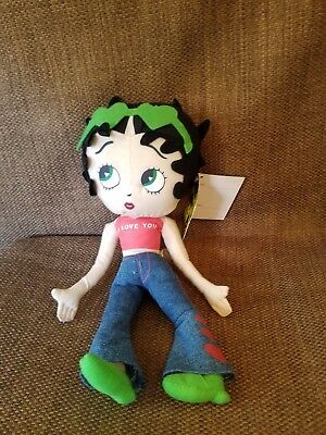 BETTY  BOOP i love you JEANS blue Plush  doll gift w /tag