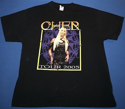 Cher 2005 Tour Mens Black T Shirt Size Xl Vintage Concert