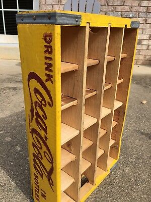 1969 Yellow Coca Cola crate