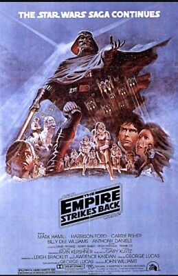 """Super 8 Cine Film""""Star Wars:The Empire Strikes Back"""" Parts 1+2 On An 800ft Reel."""