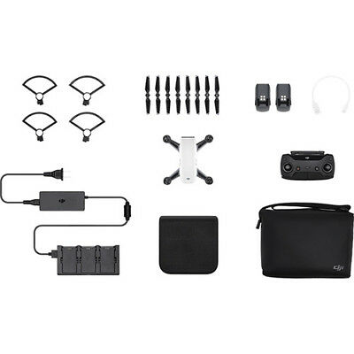 DJI Spark Fly More Combo - Alpine White Quadcopter Drone- 12MP 1080p Video
