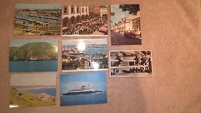 8 Channel Island postcards, Herm, Alderney, Guernsey and ferries
