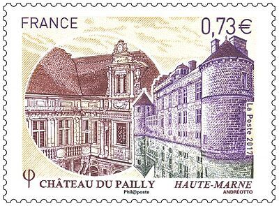 Timbre France Chateau De Pailly     Annee 2017   Neuf ** Ttbe
