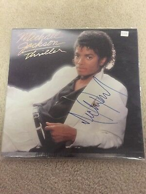 Michael Jackson signed Thriller albumn cover authentic in cover