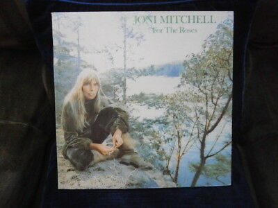 Joni Mitchell Vinyl Lp 'For The Roses' - Original 1972 Very Good Used One Owner