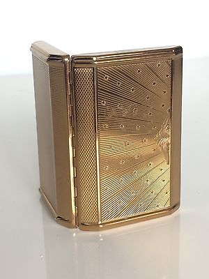 Art Deco gold plated compact/mirror by Melissa