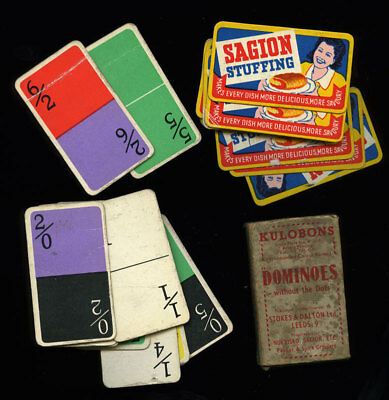 Kulobons Dominoes Without The Dots card game Saigon Stuffing advertising