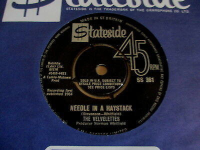 "Motown/northern Soul-Rare 7"" Vinyl Record-The Velvelettes-Needle In A-1St Press"