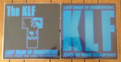 """the KLF / the JAMs - last train to trancentral / moody boys uptown - 2x12"""" vinyl"""