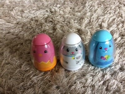 Hasbro Weebles Weighted Eggs Toys  37 38 39 Bunny Sheep Chick  2009
